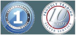 1 year warranty badge trading 10 years