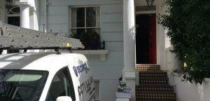Home CCTV installation and engineer's van