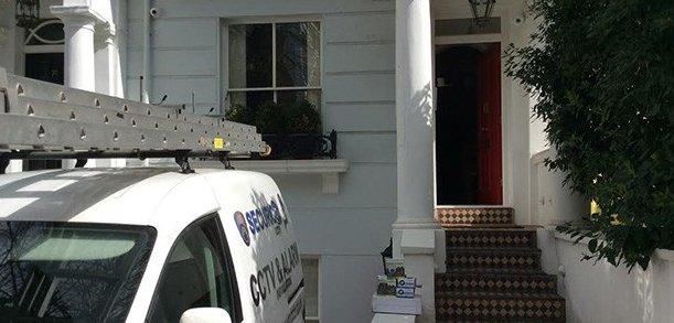 Residential CCTV installation and Securico Engineers' Van