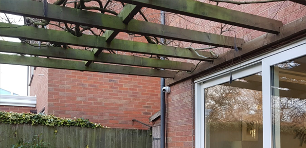 Home CCTV in rear garden