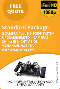 standard cctv package for home free quote