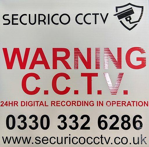 CCTV sign warning CCTV 24hr digital recording in operation